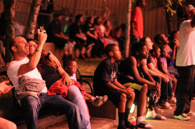 The crowd at Hart Plaza watch the 2014 Ford Fireworks display on the Detroit River, June 23. (Tanya Moutzalias/Special to the Detroit News)