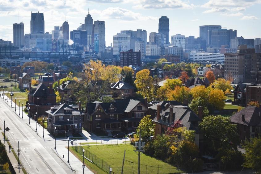 Brush Park and Downtown Detroit Oct. 26, 2015. (Tanya Moutzalias | MLive Detroit)