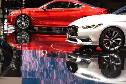 Infiniti's 2017 Q60 Sports Coupe. Thousands of visitors attend the 2016 North American International Auto Show for Ôfamily dayÕ on Friday at Cobo Center in Detroit, Jan. 22, 2016. (Tanya Moutzalias | MLive Detroit)