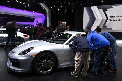 Thousands of visitors attend the 2016 North American International Auto Show for 'family day' on Friday at Cobo Center in Detroit, Jan. 22, 2016. (Tanya Moutzalias | MLive Detroit)
